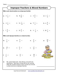 Mixed Number Improper Fraction Worksheet Free Worksheets ...