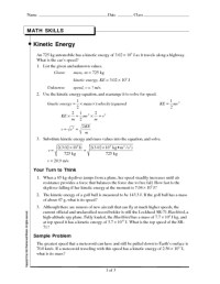 Potential And Kinetic Energy Worksheet Free Worksheets ...