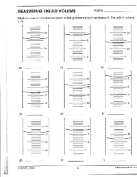 Measuring Liquid Volume Worksheet. Worksheets. Ratchasima ...