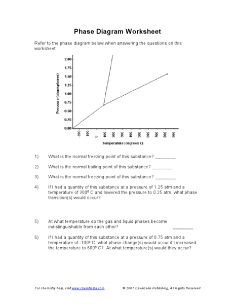Phase Diagram Worksheet Answers - phase diagram worksheet answers ...