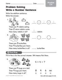 Subtraction Sentence Worksheets Kindergarten - worksheet ...