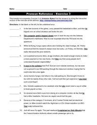 All Worksheets  Pronouns And Antecedents Worksheets ...