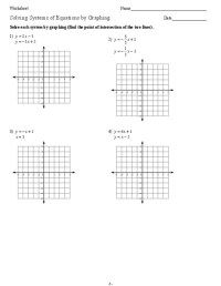 Solving Systems Of Linear Equations Worksheet - solving ...