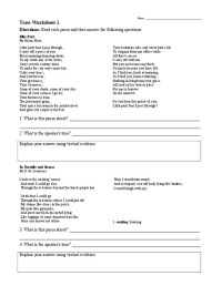 All Worksheets  Identifying Mood And Tone Worksheets ...