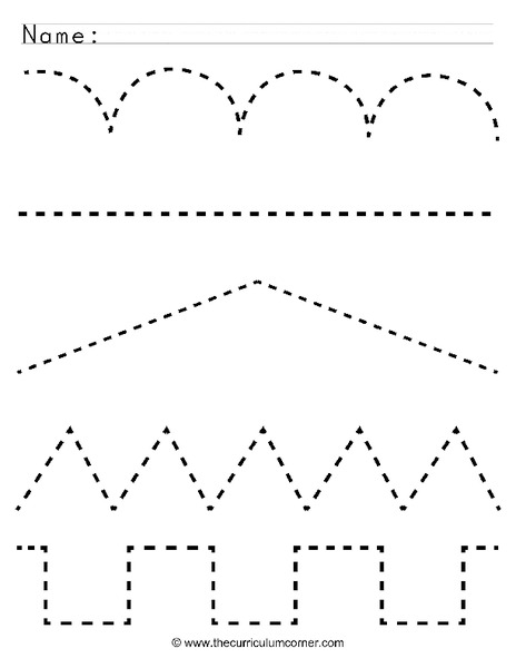 Free Worksheets » Tracing Lines Worksheet - Free Math