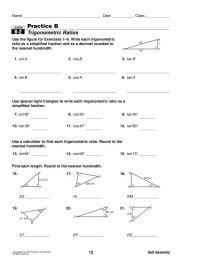Printables. Trig Ratios Worksheet. Ronleyba Worksheets ...