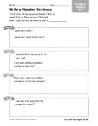 4th Grade Math Number Sentence Worksheets - writing number ...