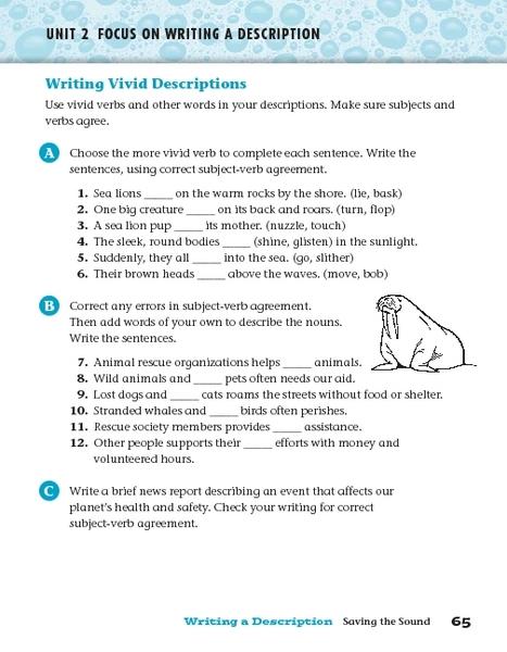 Worksheets Vivid Verbs Worksheet Opossumsoft Worksheets