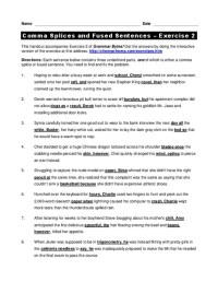 Comma Splices Lesson Plans & Worksheets | Lesson Planet