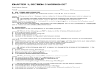 Articles Of Confederation Worksheets - Mmosguides