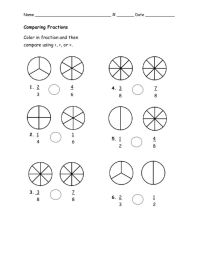 Comparing Fractions 3rd Grade Worksheets - fractions ...