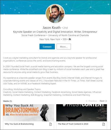 10 Marketers Who Nailed Their LinkedIn Profile LinkedIn Marketing Blog