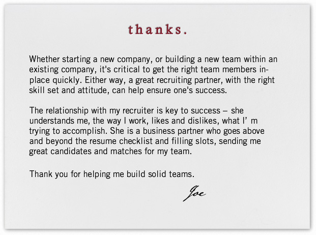 Dear Recruiter, Thank You For\u2026 LinkedIn Talent Blog