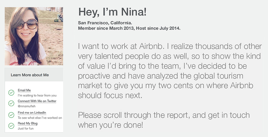 The Brilliant Airbnb Job Application Stunt (That Actually Worked - resume application