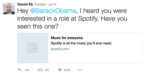 Spotify Thinks Big and Crafts Crafts an Ambitious Job Description
