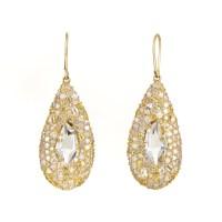 Alexis Bittar 18K Yellow Gold Diamond & Gemstone Dangle ...