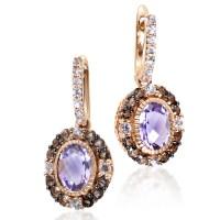 LeVian Women's 14K Rose Gold Multi-Stone Dangle Earrings ...