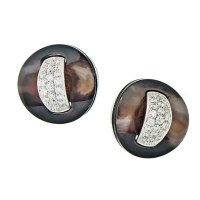 Roberto Coin Women's White Gold Black Mother of Pearl
