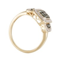 Rings Womens 14K Yellow Gold Diamond and Green Alexandrite ...