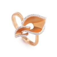 18K Rose Gold Diamond Ring KOA52264RRZ LBR | eBay
