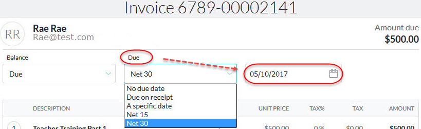 Creating an invoice - invoices