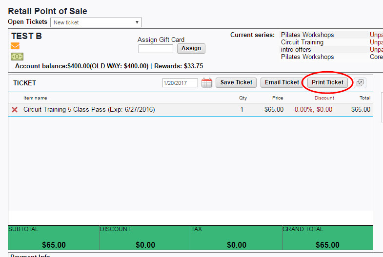 What is Print Ticket and Save Print Invoice from the Retail Screen?