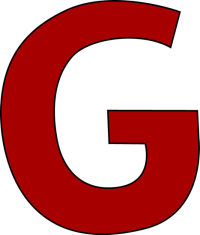 Red Letter G Clip Art - Red Letter G Image
