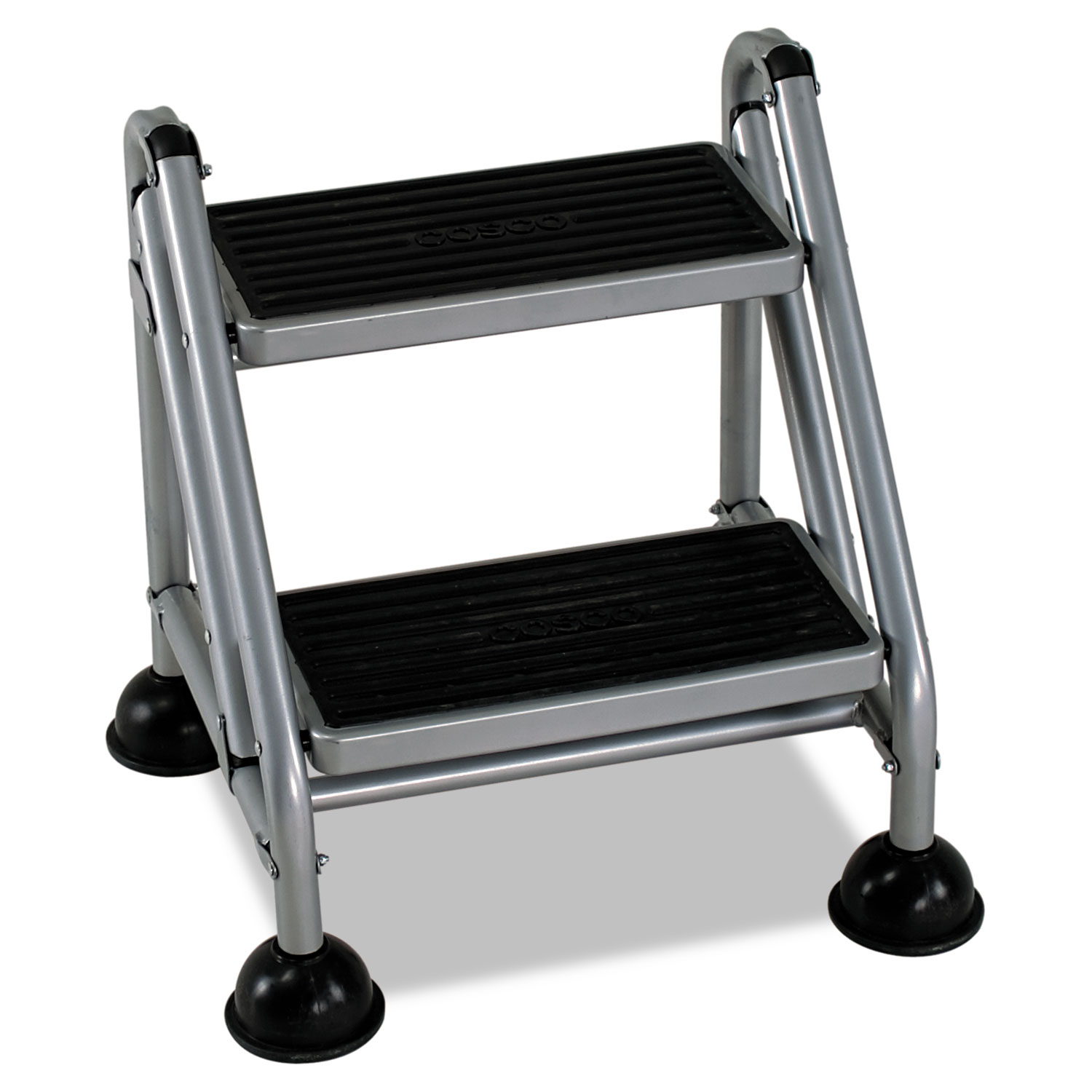 Metal Step Stool Rolling Commercial Step Stool 2 Step 19 7 10 Spread Platinum