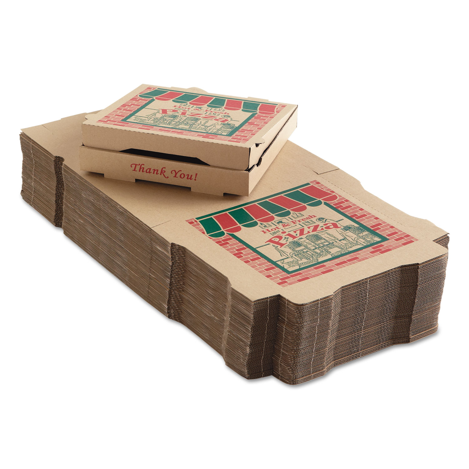 Corrugated Pizza Boxes 12 X 12 X 1 3 4 Kraft 50 Carton