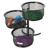 3 Tier Wire Mesh Swivel Tower Paper Clip Holder by Rolodex ...