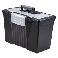 Portable File Storage Box w/Organizer Lid by Storex ...