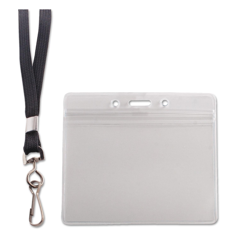 Resealable ID Badge Holder by Advantus AVT91132