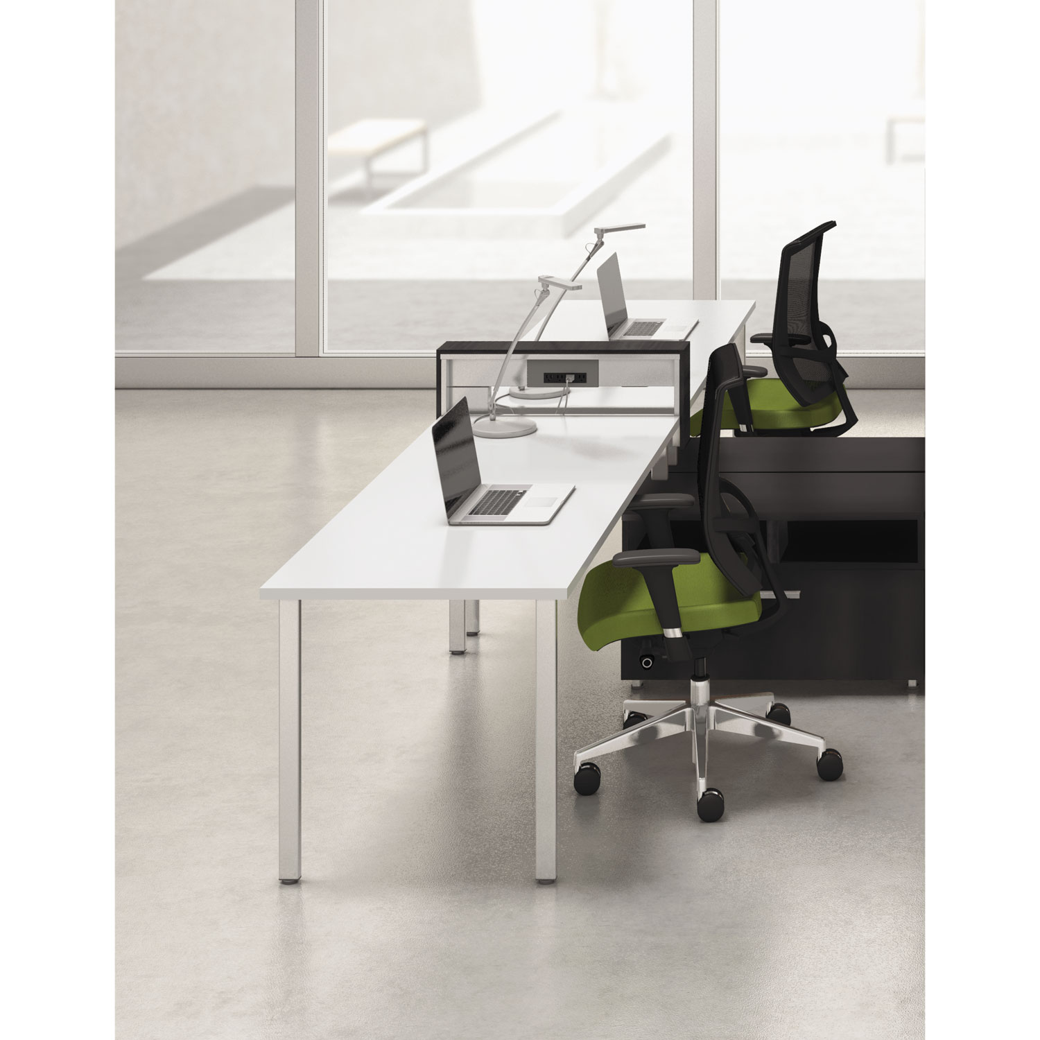 2 Person Work Station Mayline Ezpw3c002 E5 Two Person Workstation With Beltway