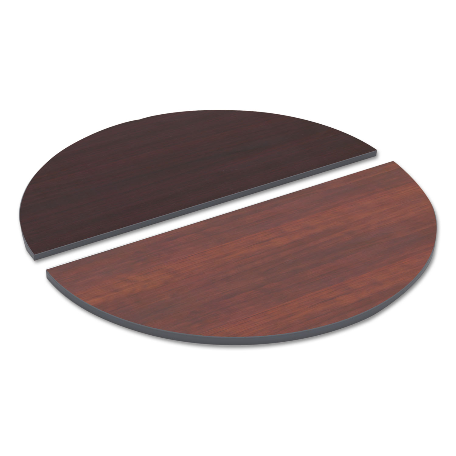 Round Table Tops Reversible Laminate Table Top Half Round 48w X 24d Medium Cherry Mahogany