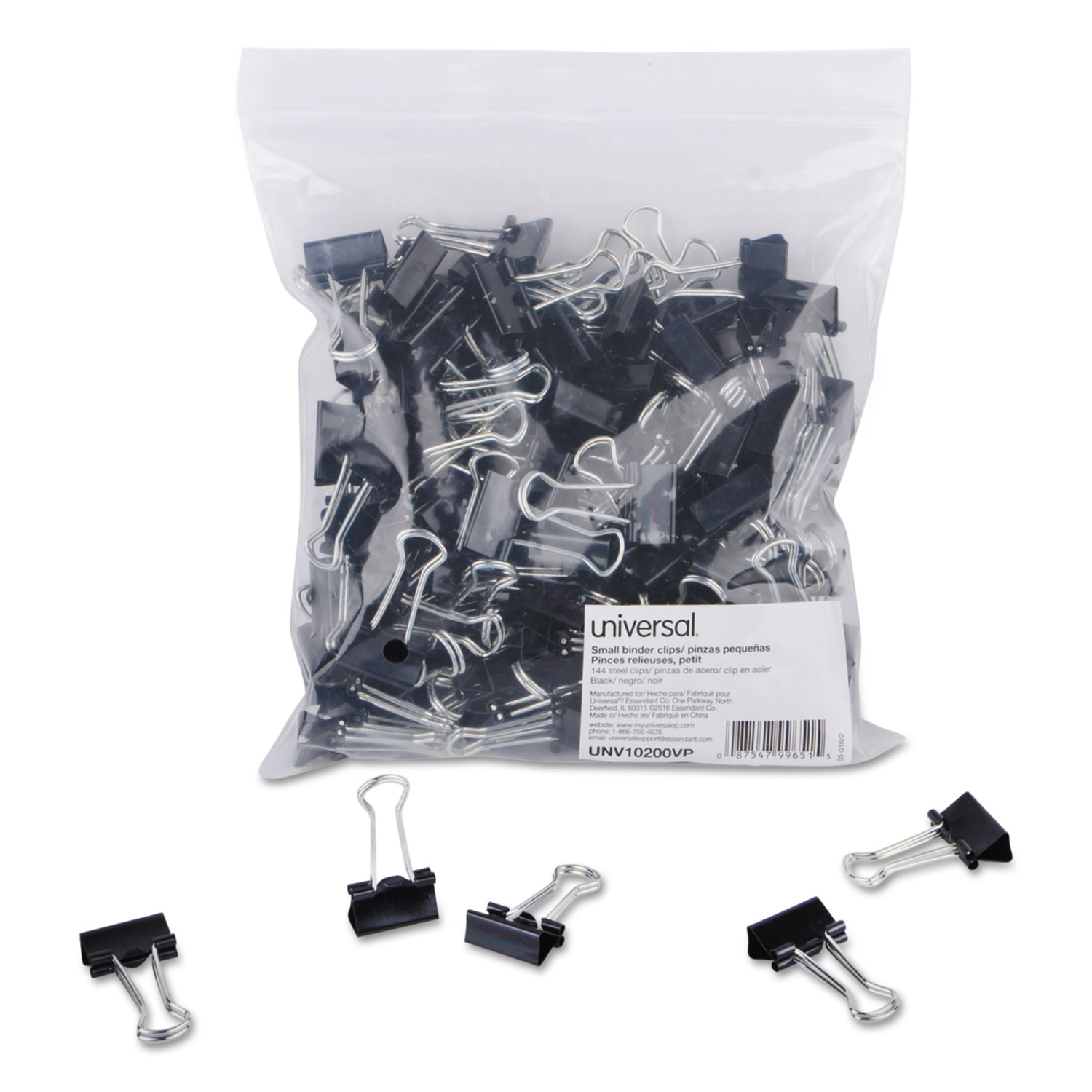 Clip Seal Bags Small Binder Clips Zip Seal Bag 3 8 Quot Capacity 3 4 Quot Wide