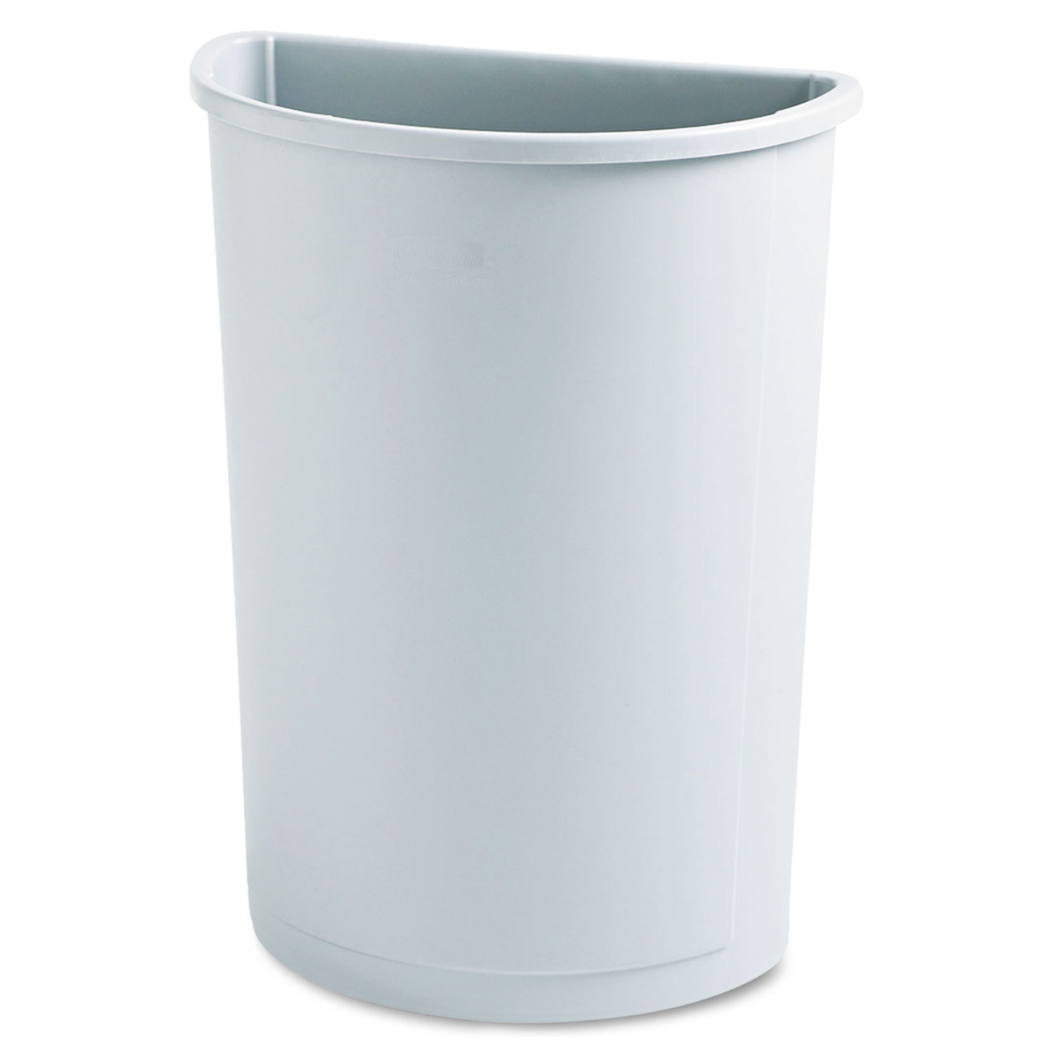 Elegant Trash Can Untouchable Waste Container Half Round Plastic 21gal Gray
