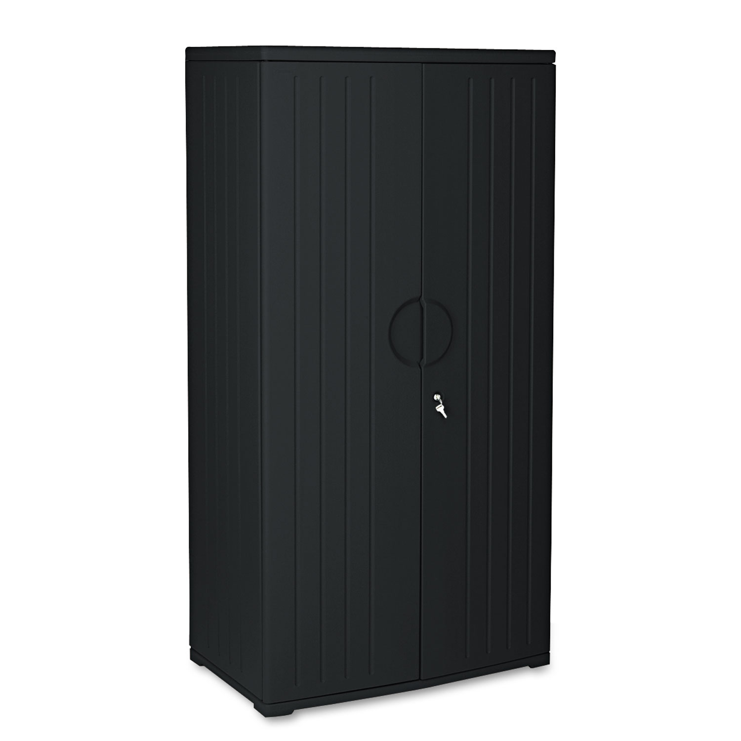 Officeworks Stools Officeworks Resin Storage Cabinet 36w X 22d X 72h Black