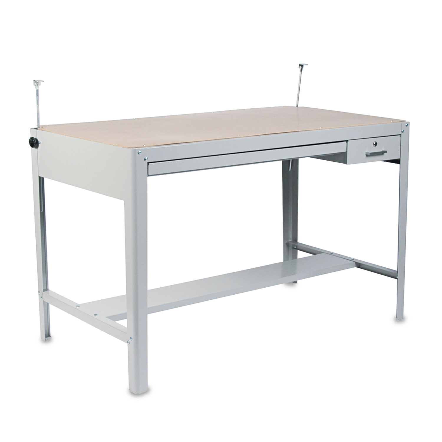 Adjustable Height Drafting Table Precision Four Post Drafting Table Base 56 1 2w X 30 1 2d X 35 1 2h Gray