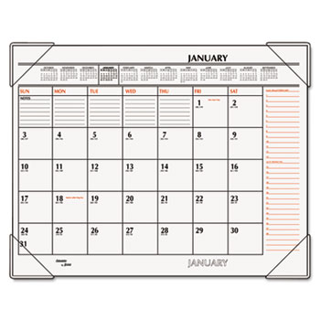 Two-Color Monthly Desk Pad Calendar by AT-A-GLANCE® AAGSK117000