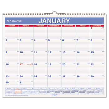 Monthly Wall Calendar by AT-A-GLANCE® AAGPM828 OnTimeSupplies