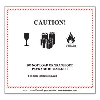 Hazmat Self-Adhesive Shipping Label by LabelMaster® LMTL435