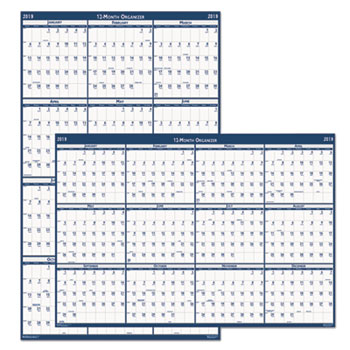 Recycled Poster Style Reversible Academic Yearly Calendar by House