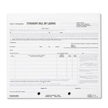 Bill of Lading Short Form by Rediform® RED44302 - OnTimeSupplies - short bill of lading