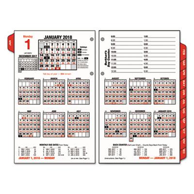 AT-A-GLANCE Burkhart\u0027s Day Counter Desk Calendar Refill, 4 1/2 x 7 3