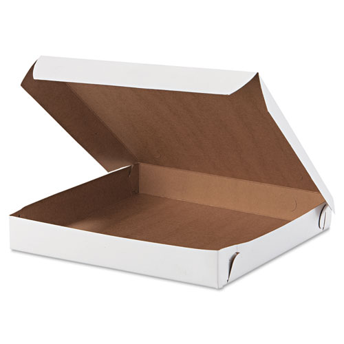 Lock-Corner Pizza Boxes, 10 x 10 x 1 1/2, White, 100/Carton