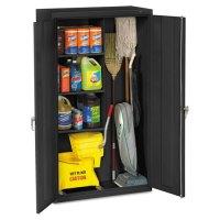 Tennsco Janitorial Cabinet, 36w x 18d x 64h, Black ...