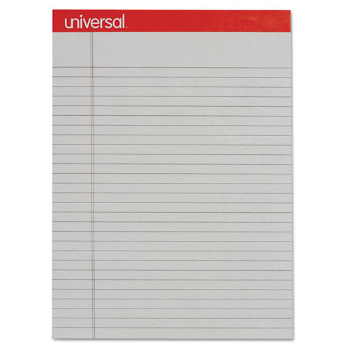 Colored Perforated Ruled Writing Pad, Legal, 8 1/2 x 11 3/4, Gray