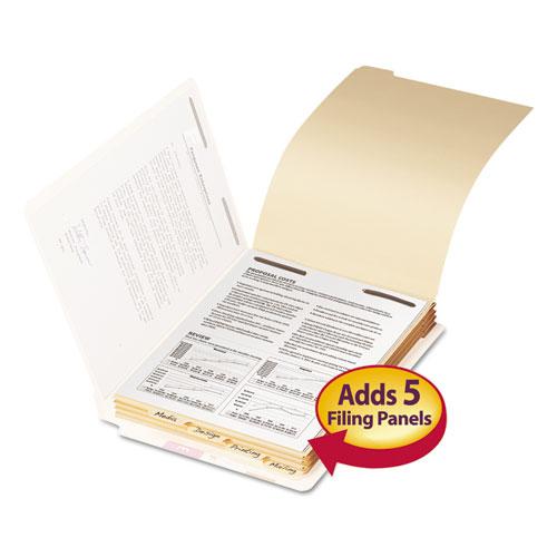 Stackable End Tab Folder Dividers with Fastener, Letter, 1/2\ - folder dividers tabs