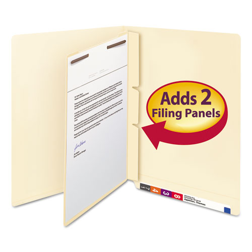Manila Self-Adhesive End/Top Tab Folder Dividers, 2-Sections, Letter