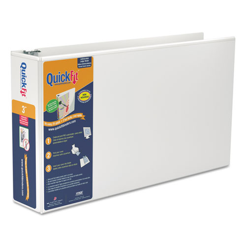 QuickFit Ledger D-Ring View Binder, 3\